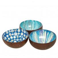 Kokosschalen Set Blau